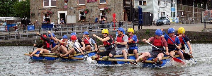 Raft Building Bristol - Bristol Harbour Raft Building Challenge